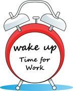 Wake Up Time for Work Clipart